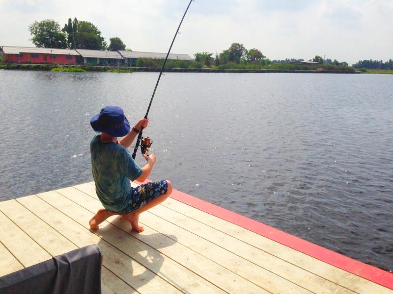 メコンオオナマズ釣りは万全のタックルで