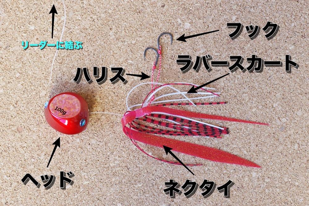 鯛ラバの構造
